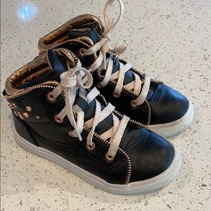 Wonder Nation Girls High Top Shoes Size 1